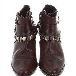Freda Salvador Embellished Ankle Boots - Size 6